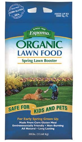 Espoma EOLB30 Organic Lawn Booster Fertilizer, 30-Pound (Best Organic Fertilizer For Weed)