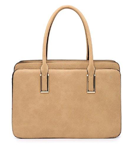 Women's Briefcase Grey Bag Day Work Compartment MA36094 Ladies Stylish Multi Handbag AOTYY0