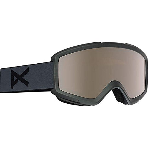 Anon Helix 2.0 Snow Goggles Stealth Grey With Silver Amber & Amber ()