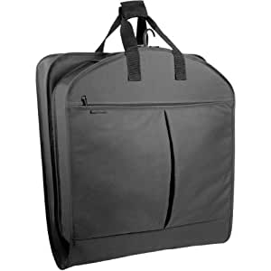"""Wally Bags 40"""" Suit Length Garment Bag with Pockets, Black (Black) - 854"""