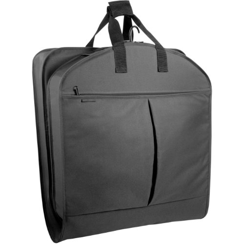 "WallyBags Luggage 40"" Garment Bag with Pockets, Black"