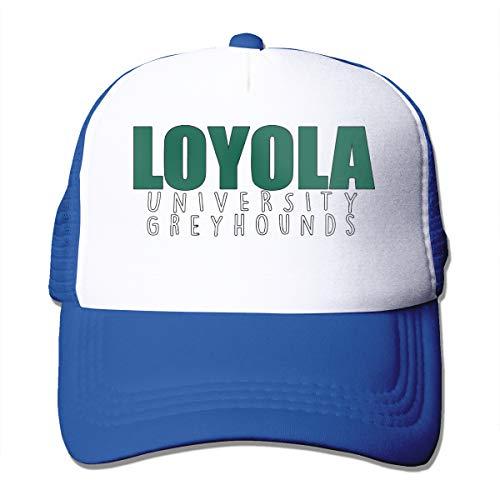 - Loyola University Maryland Greyhounds Trucker Hat Snap Back Sun Mesh Baseball Cap Hip Hop Flat Hats for Men and Women Blue