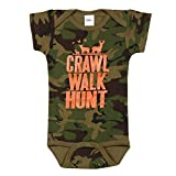 WHAT ON EARTH Crawl Walk Hunt Camo Infant Snapsuit - Short Sleeve One