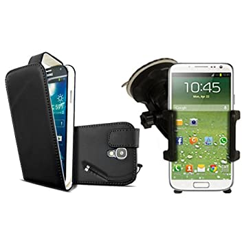 free shipping 272e3 6a011 Samsung Galaxy S4 i9500 Black PU Leather Vertical Flip: Amazon.co.uk ...