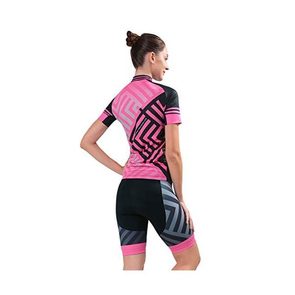 SKYSPER Pantaloni da Ciclismo con 3D Cuscino in Silicone Alta Elasticit/à e Antibatterica Pantaloni per Bicicletta Professionale per Uomo Ciclismo