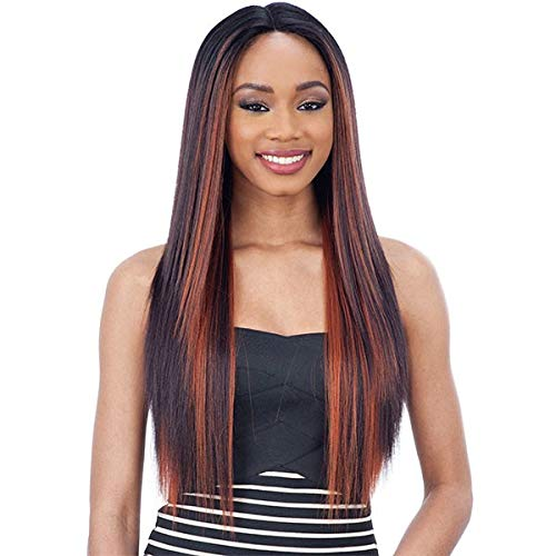 - MATTIE (1B Off Black) - Freetress Equal Synthetic 6 Inch Part Lace Front Wig