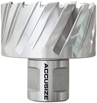 1-1//2 Diameter by 1 Depth with 3//4 Weldon Shank Ansi Standard Accusize Industrial Tools Hss Annular Cutter 2080-2029