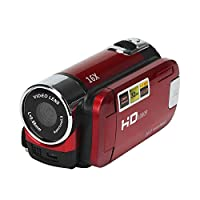 Han Shi Digital Video YouTube Camera Camcorder Home Outdoor Vacation Mini Digital Camera Pocket HD 1080P 16M 16X Digital Zoom (Red)