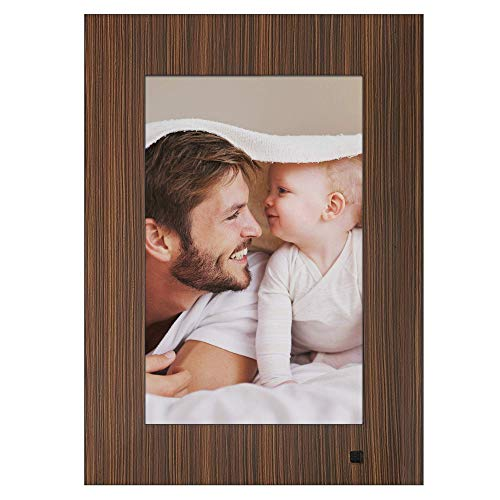 NIX Lux 10-Inch Digital Photo Frame X10J Wood (Non-WiFi) - Wall-Mountable Digital Frame with 1280x800 HD IPS Display, Motion Sensor, USB and SD Card Slots and Remote Control, 8 GB USB Stick Included (Non A Wifi)