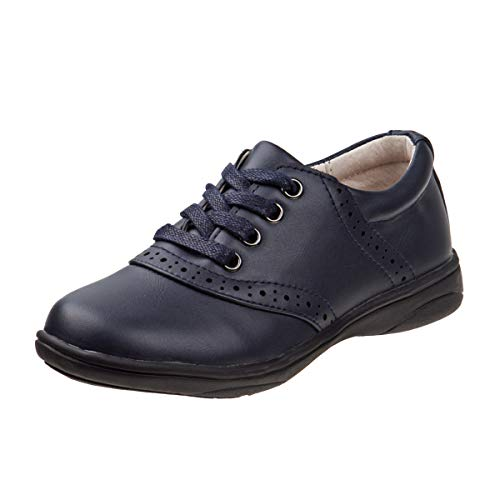 Laura Ashley Girls' Lace Up School Uniform Saddle Shoes (Little Kid/Big Kid), Navy, Size 6 M US Big Kid' -