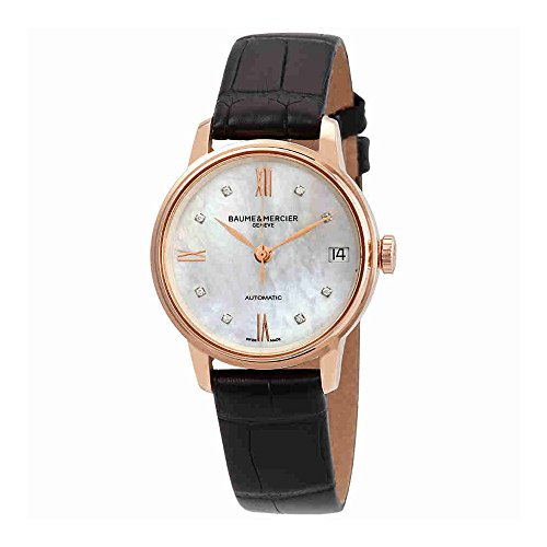 Baume et Mercier Classima Executives 18kt Rose Gold Automatic Diamond Ladies Watch MOA10286