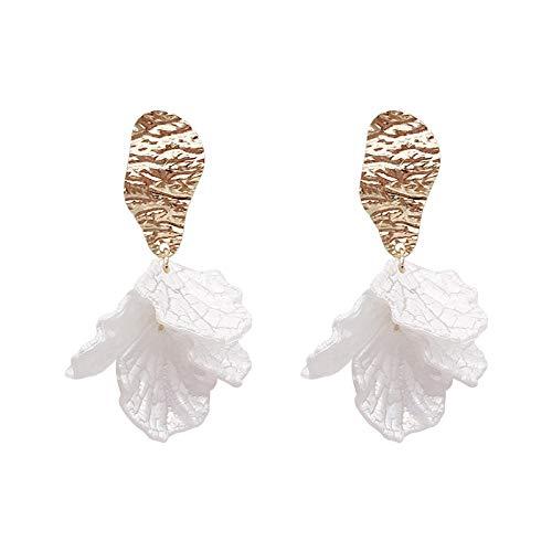 Shell Crack/Petal Flower S925 Silver Needle Earrings /