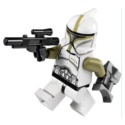 Lego Star Wars Minifigure: Clone Trooper Sergeant with Blaster & Binoculars: Toys & Games