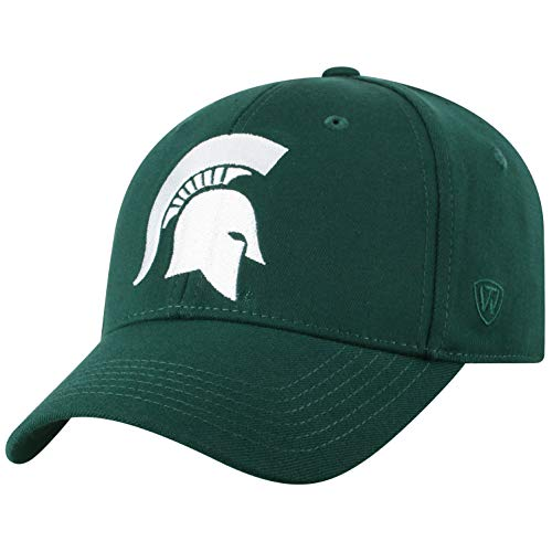 Top of the World Michigan State Spartans Men's Memory Fit Hat Icon, Green, One Fit