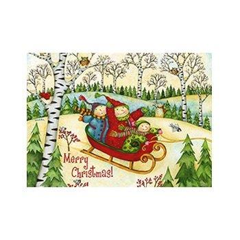 (Snowmen Sleigh Ride Boxed Holiday Greeting Cards HBX15297 [jg])