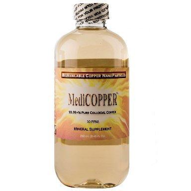 (MediCOPPER - True Colloidal Copper - 250 mL (8.45 Fl Oz) Clear BPA-Free PETE Bottle)