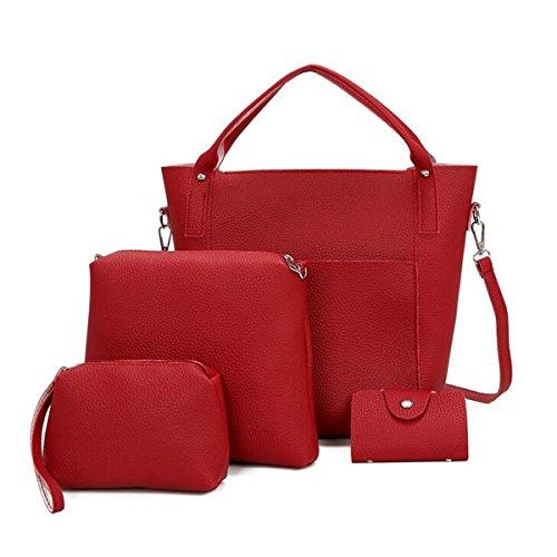 OURBAG bordeaux pour Pochette OURBAGwolzende746 femme marron marron rouge TC1wPq