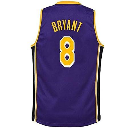 Kobe Bryant # 8 Camiseta De Baloncesto De Los Hombres De Los Ángeles Lakers Malla Alero Jerseys Chaleco Sin Mangas Top Sport Purple-XS: Amazon.es: Hogar
