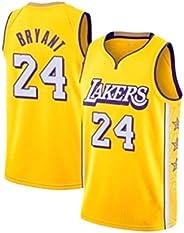 Lakers Bryant #24 Basketball Jersey, Black White Purple Yellow Loose Wear Resistant Sports Uniform
