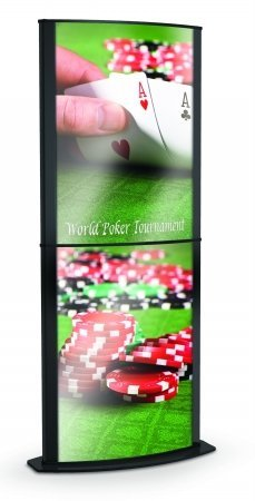 Convex Poster Signholders Color: Matte Black, Size: 58'' H x 22'' W