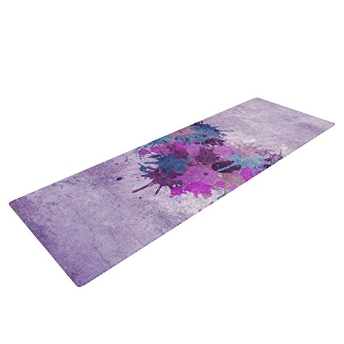 Kess InHouse Nick Atkinson Yoga Exercise Mat, Painted Heart, 72 x 24-Inch