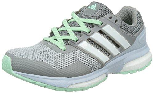 考慮倍率セブンアディダス(adidas) レディース response boost 2 W(CH ソリッドグレー/ランニングホワイト/フローズングリーン) B33496