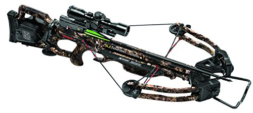 TenPoint Turbo GT Crossbow Package with ACU Draw/3X Pro View Scope/Pro Elite Carbon Arrows & Quiver, 175 lb/Medium