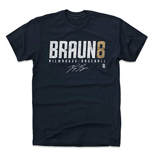 500 LEVEL Ryan Braun Cotton Shirt XX-Large True Navy - Milwaukee Baseball Men's Apparel - Ryan Braun Braun8 D WHT
