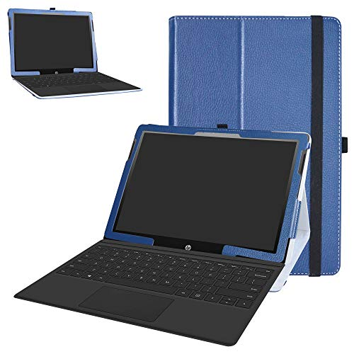 HP Chromebook x2 Tablet Case,Bige PU Leather Folio 2-Folding Stand Cover for 12.3