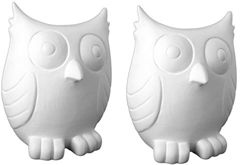 The Friendly Owl Bank - Set of 2 - Paint Your Own Ceramic Keepsake