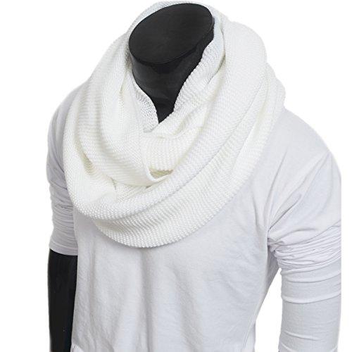 Men Scarf Knit Infinity Scarf Winter Soft Warm Scarves E5081b (Knit Men Scarf)