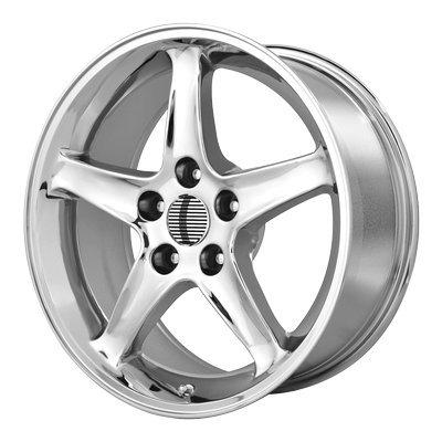 OE Creations | 102C-796524 | 17 Inch | Mustang Cobra R | PR102 Wheel/Rim | Chrome | 17x9 Inch | 5x4.5/5x114.30 | 24mm
