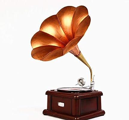 LMJ Outsider Adornos Retro del fonógrafo, gramófono Decorativos de ...