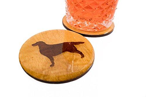 Premium Golden Retriever Coasters - Set of 4 Handmade Engraved 3.5