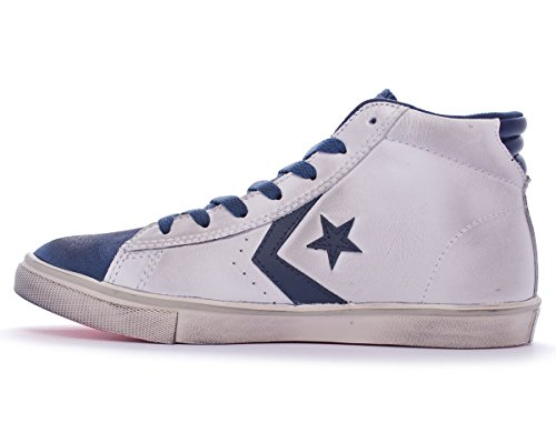 Converse Pro Leather Vulc Mid Leather/Suede unisex bambino, pelle liscia, sneaker alta