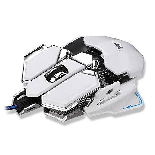 ピンクLizard Combaterwing 4800 DPI USB有線プロフェッショナルゲームマウスプログラマブル10ボタン呼吸LED RGB B01HZZ5H14
