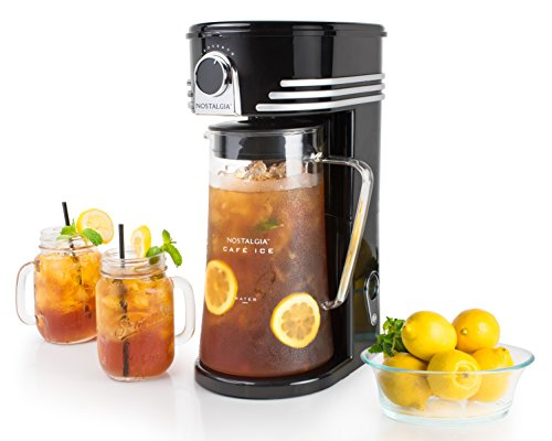 Nostalgia CI3BK Iced Coffee Maker and Tea Brewing System, Glass Pitcher, 3 quart Black by Nostalgia (Image #1)