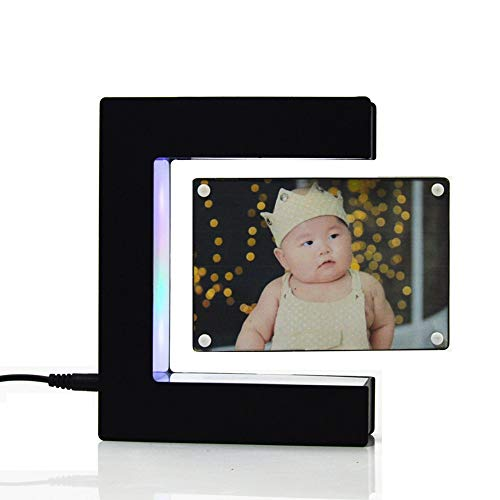 - Linlyca Anti Gravity Floating Photo Frame LED Magnetic Levitation Pictures Frame E-Shaped Photo Frame Magnetic Suspension Photo Frame Home Office Wedding Decoration