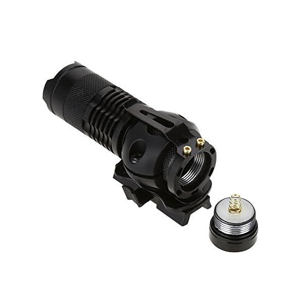 Alomejor Linterna para Casco, Q5 Zoom Linterna y Casco Linterna Juego de Clips con batería cargable para Seguridad y Aire Libre 8