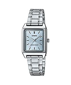 Casio Watch for Women Analog, Stainless steel, Silver, LTP-V007D-2A
