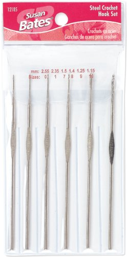 Steelite 12185.001 Crochet Hook Set (Bates Steel Hook)