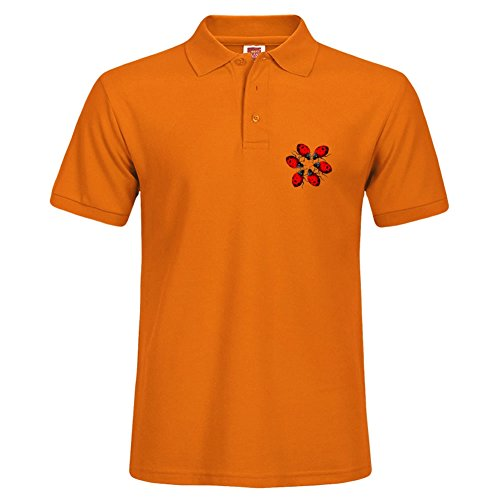 Men Performance Polo Shirt Breathable Short Sleeve Tee Ladybug Ring Specail - Fl Destin Outlet