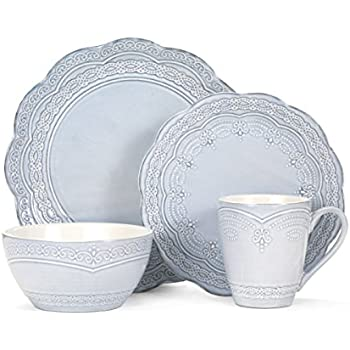 Pfaltzgraff Seraphina 16-Piece Stoneware Dinnerware Set Service for 4  sc 1 st  Amazon.com : dinnerware patterns for everyday - pezcame.com