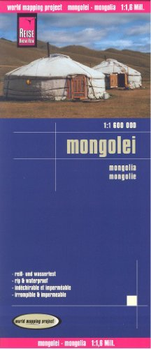 Mongolia 1:1,600,000 Travel Map, waterproof, GPS-compatible REISE, 2013 edition