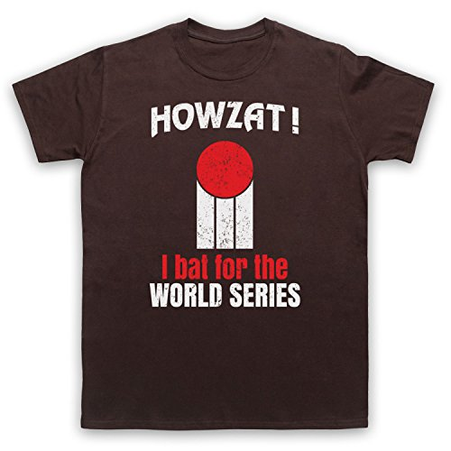 Howzat I Bat For The World Series As Worn By Dennis Lillee Camiseta para Hombre marrón