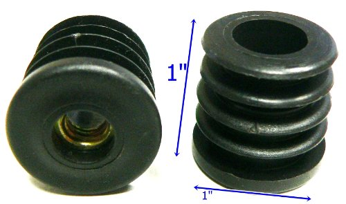 use with 1 OD round tube Oajen caster socket furniture insert for 5//16 x 1-1//2 stem 4-pack