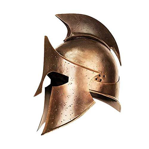 Helmet Spartan Medieval Greek 300 Roman Armor King Corinthian Leonidas Warrior Armour Halloween Helmet ()