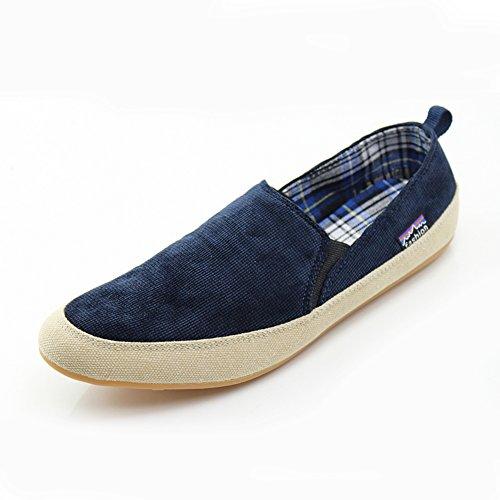 Inglaterra en los zapatos de ocio de verano/Tendencia fija del pie zapatos de los hombres azul marino