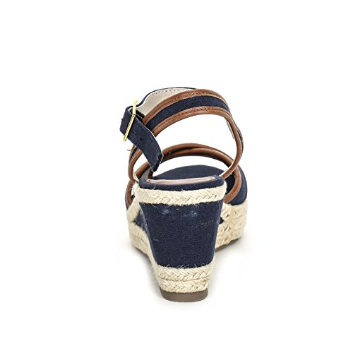 PRENDIMI by Scarpe&Scarpe - Plataformas de lienzo cruzadas Azul