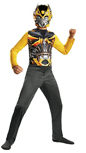Boy's Transformers Bumblebee Basic Fancy Dress Child Halloween Costume, Child S -